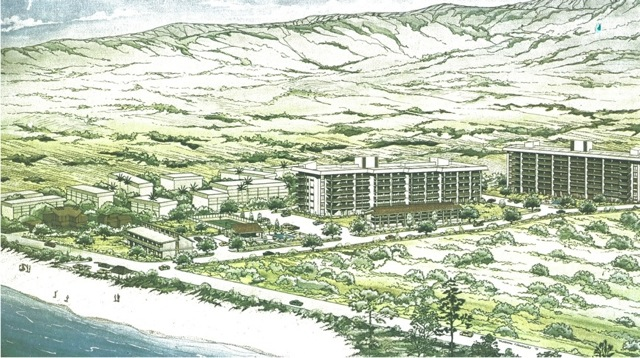 This is one of the original concept drawings of our complex! Circa 1970